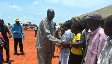 Top authority in Wau visits PoC site