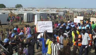 Strong partnership between UNPOl and community curbing criminality in Bentiu PoC site