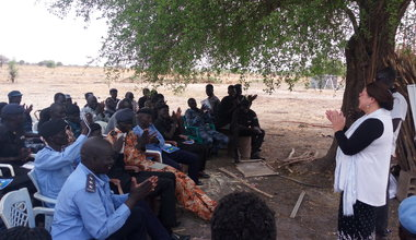 UNMISS in Bentiu trains national police on respecting human rights South Sudan 2017
