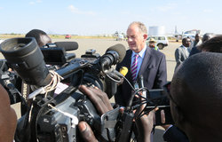 NEW HEAD OF THE UN MISSION IN SOUTH SUDAN ARRIVES IN JUBA DAVID SHEARER