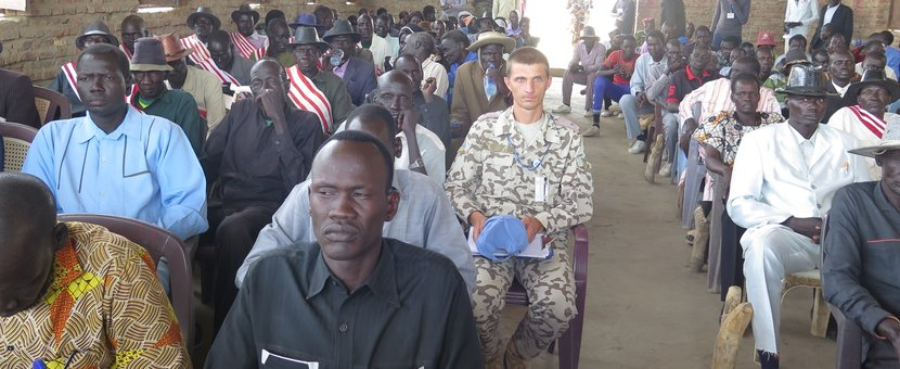 UNMISS facilitates inter-county peace forum in Mayom County South Sudan