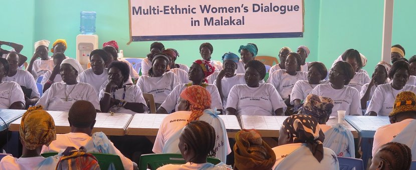 Women in Malakal discuss ways to increase participation in conflict resolution